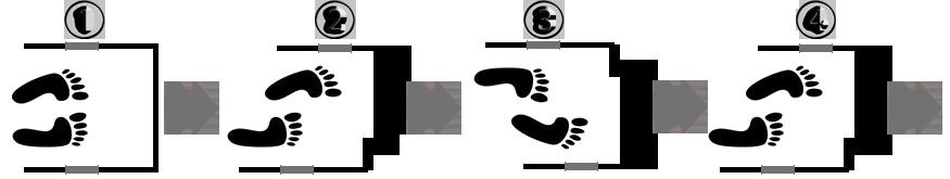 схема перемещения на ходунках